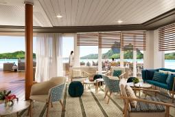 Die Lounge La Palette auf der Le Paul Gauguin. Foto: Paul Gauguin Cruises/Studio Jean-Philippe Nuel