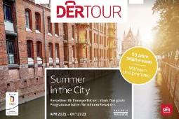 """Bei Städtetrips bis zu 55 Prozent sparen mit dem aktuellen Sonderkatalog """"Summer in the City"""". Foto (Ausschnitt Cover): DER Touristik"""