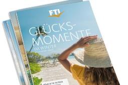 Der neue Quartals-Katalog von FTI ist da – wie gewohnt mit themenspezifischen Reiseartikeln für viele Urlaubswünsche. Foto: FTI