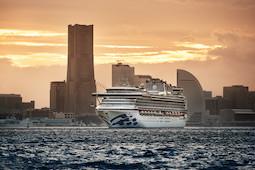 Die Diamond Princess vor Yokohama, Japan. Foto: Princess Cruises
